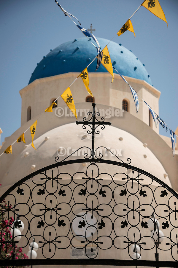 Church of Timiou Stavrou during its slava (celebration of Exaltation of the True Cross), Perissa, Greece