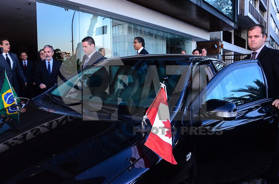 RIO DE JANEIRO, RJ, 08 DE AGOSTO DE 2013 -II REUNIÃO DO DIÁLOGO DE PARCERIA ESTRATÉGICA BRASIL-CANADÁ -o Ministro Antonio de Aguiar Patriota co-presidiu, com o Ministro dos Negócios Estrangeiros do Canadá, John Baird, a II Reunião do Diálogo de Parceria Estratégica Brasil-Canadá. ,na tarde desta quinta-feira, 08, em Ipanema, zona sul do Rio de Janeiro. FOTO:MARCELO FONSECA/BRAZIL PHOTO PRESS