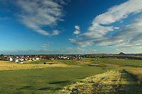 Gullane and North Berwick Law from Gullane Links Golf Course, East Lothian
