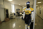 Lotto NL-Jumbo team jersey on display in the design office, Santini Factory, Lallio, Italy. 30th September 2015.<br /> Picture: Eoin Clarke | Newsfile