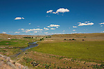 The Palouse River winds through ranch country just above Palouse Falls, near Washtucna, WA.