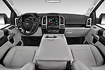 Stock photo of straight dashboard view of a 2015 Ford F-150 XLT SuperCrew 145-in Door Pickup Dashboard