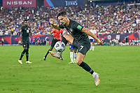 5th September 2021; Nashville, TN, USA;  Canada midfielder Stephen Eustaquio (7) controls the high ball during a CONCACAF World Cup qualifying match between the United States and Canada on September 5, 2021 at Nissan Stadium in Nashville, TN.