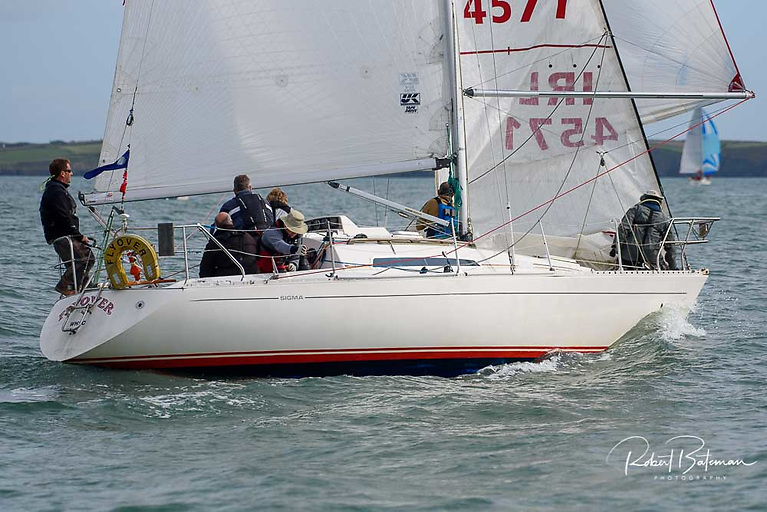 Waterford Harbour's Flyover (Marchant Roche McDonald) finished third overall at the Sigma 33 Championships at the Royal Irish Yacht Club