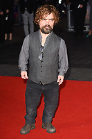 """Peter Dinklage<br /> arriving for the London Film Festival 2017 closing gala of """"Three Billboards"""" at Odeon Leicester Square, London<br /> <br /> <br /> ©Ash Knotek  D3337  15/10/2017"""