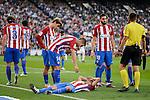 Atletico de Madrid's player Nico Gaitán injured during a match of La Liga Santander at Vicente Calderon Stadium in Madrid. October 29, Spain. 2016. (ALTERPHOTOS/BorjaB.Hojas)