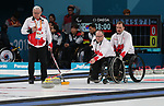 Pyeongchang, Korea, 12/march/2018-Marie Wright, Dennis Thiessen, Mark Ideson, Ina Forrest compete in wheelchair curling during the 2018 Paralympic Games in PyeongChang. Photo Scott Grant/Canadian Paralympic Committee.