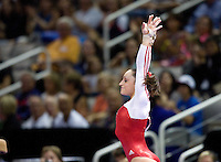 Jordyn Wieber of Geddert's competes on the vault during the 2012 US Olympic Trials competition at HP Pavilion in San Jose, California on June 29th, 2012.