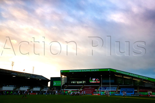 21st November 2020; Welford Road Stadium, Leicester, Midlands, England; Premiership Rugby, Leicester Tigers versus Gloucester Rugby; A general view of play during the first half