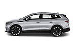 Car Driver side profile view of a 2021 Skoda Enyaq-iV 80 5 Door SUV Side View