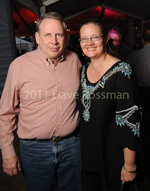 Heidi and George Wilkinson at the Nature Conservancy's Nature Rocks  Gala at the Houston Polo Club Thursday Oct. 22,2015.(Dave Rossman photo)