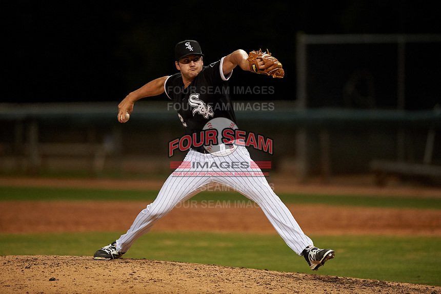AZL White Sox relief pitcher McKinley Moore (52) during an Arizona League game against the AZL Indians Blue on July 2, 2019 at Camelback Ranch in Glendale, Arizona. The AZL Indians Blue defeated the AZL White Sox 10-8. (Zachary Lucy/Four Seam Images)