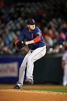 Pawtucket Red Sox relief pitcher Carson Smith (22) delivers a pitch during a game against the Buffalo Bisons on August 31, 2017 at Coca-Cola Field in Buffalo, New York.  Buffalo defeated Pawtucket 4-2.  (Mike Janes/Four Seam Images)