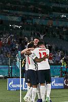 3rd July 2021, Stadio Olimpico, Rome, Italy;  Euro 2020 Football Championships, England versus Ukraine quarter final;  Jordan Henderson of England celebrates scoring for 4-0