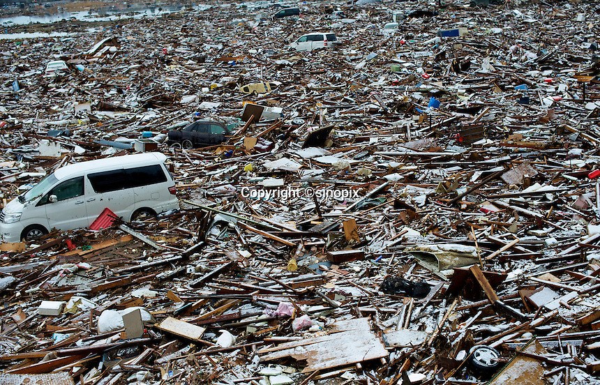 The town of Natori near Sendai has been dumped fallout has meant that the March 11th quake was the most expensive natural disaster known to man.<br /> 16 Mar 2011