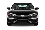 Car photography straight front view of a 2018 Honda Civic LX 3 Door Coupe Front View