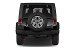 Straight rear view of 2017 JEEP Wrangler Rubicon 5 Door SUV Rear View  stock images