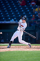 Oregon State Beavers Joe Casey (5) at bat during an NCAA game against the New Mexico Lobos at Surprise Stadium on February 14, 2020 in Surprise, Arizona. (Zachary Lucy / Four Seam Images)