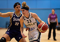 Alison Gorrell of Newcastle Eagles during the WBBL Championship match between Sevenoaks Suns and Newcastle Eagles at Surrey Sports Park, Guildford, England on 20 March 2021. Photo by Liam McAvoy