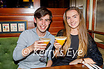 John Carroll and Caoimhe Mawe enjoying the evening in the Mall Tavern on Friday.