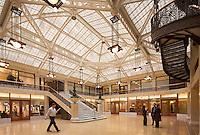 atrium of the Rookery, LaSalle St., Chicago. IL (Burnham & Root, 1888 = architect); re-hab by Frank Lloyd Wright)
