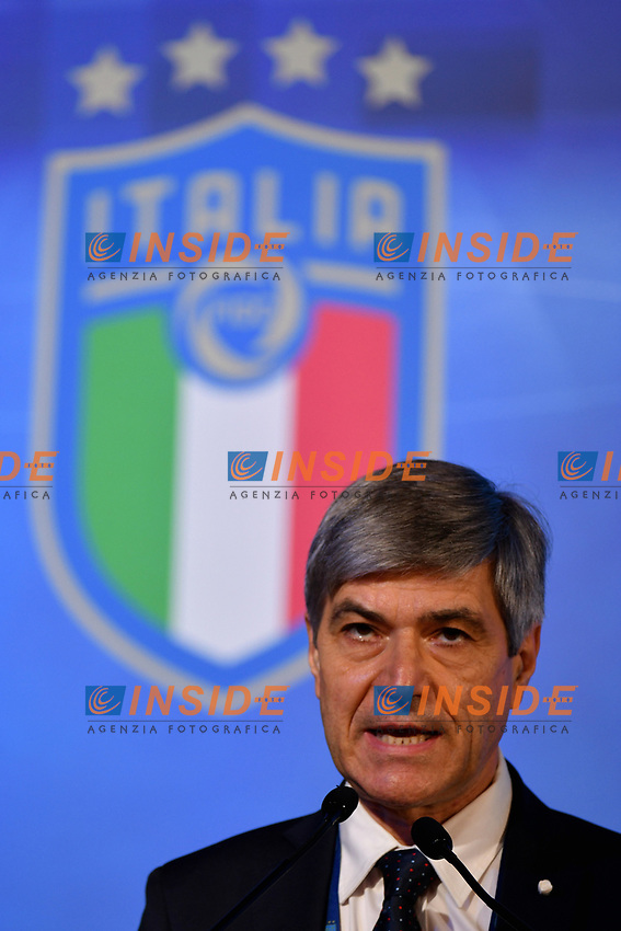 ROME, ITALY - FEBRUARY 22:  CAN President Alfredo Trentalange attend the FIGC Elective Assembly at Cavalieri Waldorf Astoria Hotel on February 21, 2021 in Rome, Italy.  <br /> Photo Marco Rosi / FIGC / Insidefoto