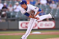 Round Rock Express pitcher Scott Richmond (48) fires a pitch during pacific coast league baseball game, Friday August 15, 2014 in Round Rock, Tex. Reno defeats Round Rock 11-9 to sweep three game series. (Mo Khursheed/TFV Media via AP Images)
