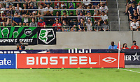 AUSTIN, TX - JUNE 16: Sponsor photo during a game between Nigeria and USWNT at Q2 Stadium on June 16, 2021 in Austin, Texas.