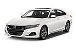 2021 Honda Accord-Hybrid EX-L 4 Door Sedan Angular Front automotive stock photos of front three quarter view