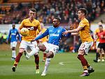 07.04.2019 Motherwell v Rangers: David Turnbull, Jermain Defoe and Alex Rodriguez-Gorrin