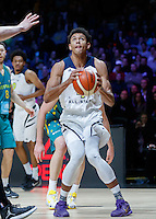 July 14, 2016: MATISSE THYBULLE (4) of the Washington Huskies prepares for a shot during game 2 of the Australian Boomers Farewell Series between the Australian Boomers and the American PAC-12 All-Stars at Hisense Arena in Melbourne, Australia. Sydney Low/AsteriskImages.com