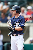Columbus Clippers right fielder Tyler Naquin (6) during a game against the Lehigh Valley IronPigs on May 12, 2016 at Huntington Park in Columbus, Ohio.  Lehigh Valley defeated Columbus 2-1.  (Mike Janes/Four Seam Images)