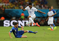 Englands RAHEEM STERLING AND ITALY'S Darmian Matteo