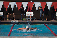 STANFORD, CA - February 17, 2018: Brad Zdroik at Avery Aquatic Center. The Stanford Cardinal defeated the California Golden Bears 151-149 on Senior Day.