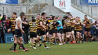Friday 17th March 2017 | ULSTER SCHOOLS CUP FINAL<br /> <br /> The final whistle during the Ulster Schools Cup Final between RBAI and MCB at Kingspan Stadium, Ravenhill Park, Belfast, Northern Ireland.<br /> <br /> Photograph by John Dickson | www.dicksondigital.com