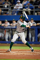 Siena Saints right fielder Matt Hamel (6) at bat during a game against the Florida Gators on February 16, 2018 at Alfred A. McKethan Stadium in Gainesville, Florida.  Florida defeated Siena 7-1.  (Mike Janes/Four Seam Images)