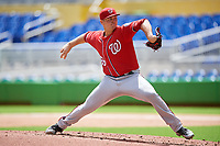 Washington Nationals pitcher Wil Crowe (69) delivers a pitch during a Florida Instructional League game against the Miami Marlins on September 26, 2018 at the Marlins Park in Miami, Florida.  (Mike Janes/Four Seam Images)