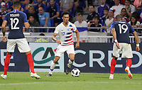 Lyon, France - Saturday June 09, 2018: Antonee Robinson during an international friendly match between the men's national teams of the United States (USA) and France (FRA) at Groupama Stadium.