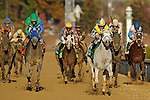 Hansen, ridden by jockey Ramon Dominguez and trained by Michael Maker beat favorite Union Rags , ridden by jockey Javier Castellano in a photo finish in the Grey Goose Breeders' Cup Juvenile (G1) at at Churchill Downs in Louisville, Kentucky on November 5, 2011..
