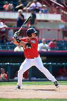 Erie Seawolves designated hitter Drew Longley (38) at bat during a game against the Altoona Curve on July 10, 2016 at Jerry Uht Park in Erie, Pennsylvania.  Altoona defeated Erie 7-3.  (Mike Janes/Four Seam Images)