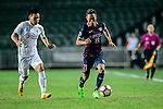 FC Kitchee Defender Kin Man Tong (r) fights for the ball with FC Hanoi Forward Trinh Duy Long (l) during the AFC Champions League 2017 Preliminary Stage match between  Kitchee SC (HKG) vs Hanoi FC (VIE) at the Hong Kong Stadium on 25 January 2017 in Hong Kong, Hong Kong. Photo by Marcio Rodrigo Machado/Power Sport Images