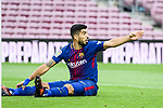 Luis Alberto Suarez Diaz of FC Barcelona gestures during the La Liga 2017-18 match between FC Barcelona and Las Palmas at Camp Nou on 01 October 2017 in Barcelona, Spain. (Photo by Vicens Gimenez / Power Sport Images