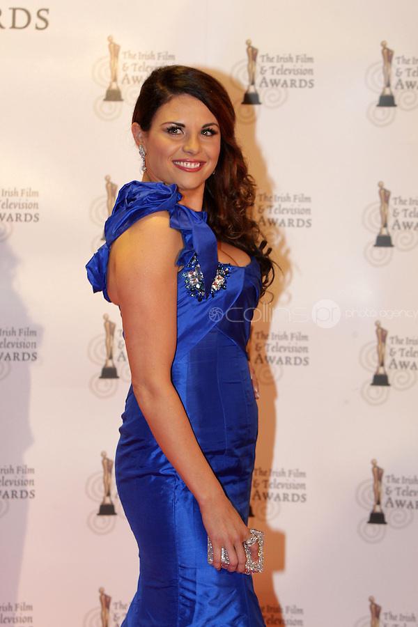 12/2/11 Expose's Lisa Cannon on the red carpet at the 8th Irish Film and Television Awards at the Convention centre in Dublin. Picture:Arthur Carron/Collins