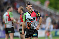 Danny Care of Harlequins during the Aviva Premiership match between Harlequins and Leicester Tigers at The Twickenham Stoop on Saturday 21st April 2012 (Photo by Rob Munro)