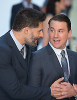 Joe Manganiello chats to Channing Tatum as they attend The Magic Mike XXL European Film Premiere at Vue, Leicester Square, London, England on 28 June 2015. Photo by Andy Rowland.