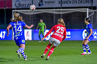 Standard forward Davinia Vanmechelen (25) pictured during a female soccer game between  AA Gent Ladies and Standard Femina de Liege on the 8 th matchday of the 2020 - 2021 season of Belgian Scooore Womens Super League , friday 20 th of November 2020  in Oostakker , Belgium . PHOTO SPORTPIX.BE   SPP   STIJN AUDOOREN