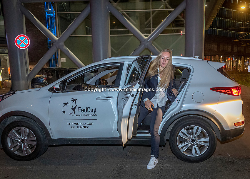 The Hague, The Netherlands, Februari 5, 2020,    Penthouse, FedCup  Netherlands -  Balarus, Official Dinner,  Dutch team arriving.<br /> Photo: Tennisimages/Henk Koster