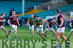 Killian Falvey of Kerry v Galway in the U20 All Ireland football semi final.