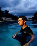Spanish Grammy-winning singer Alejandro Sanz photographed at home on Miami Beach