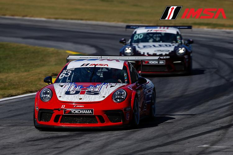 IMSA Porsche GT3 Cup Challenge USA<br /> Road Atlanta<br /> Road Atlanta, Braselton GA<br /> Friday 6 October 2017<br /> 63, McKay Snow, GT3P, USA, 2017 Porsche 991<br /> World Copyright: Jake Galstad<br /> LAT Images
